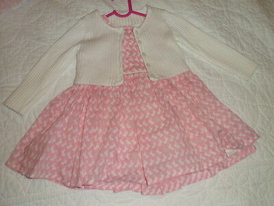 Next, Baby Girls Pretty Dress & Cardigan Outfit, 3-6 Months