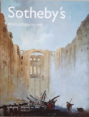 Sotheby's Catalog REVOLUTION IN ART Paintings Drawings Sculpture 18-19th 2002 NY