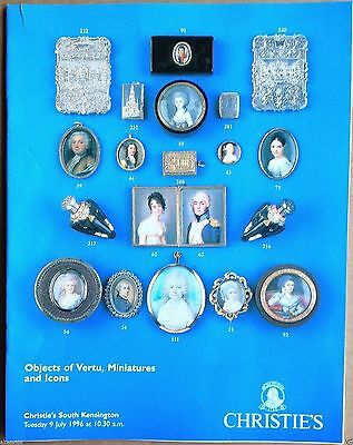 Christie's Catalog OBJECTS OF VERT, MINIATURES & RUSSIAN ICONS July 1996 London