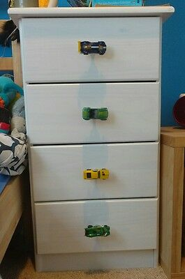 Children's drawer chest wardrobe cupboard handles knobs cars (free postage)