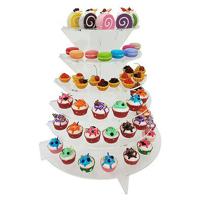 New! Cupcake/sushi/hors D'oeuvres/dessert Display 6 Tier Stand - Acrylic Shelf