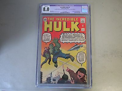 The Incredible Hulk #3 CGC 8.0 Comic Book  1962  1st App. of Ring Master