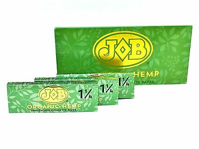 JOB Hemp Rolling Papers 3 Packs 50 Leaves ea 1 1/4 Size Roll Tobacco Unbleached