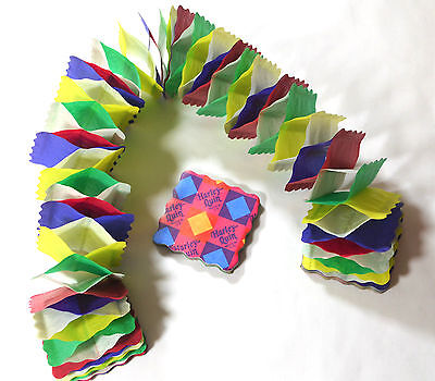 2 Vintage Harley-Quin Christmas Paper Ceiling Garland Honeycomb Colourful Gar06
