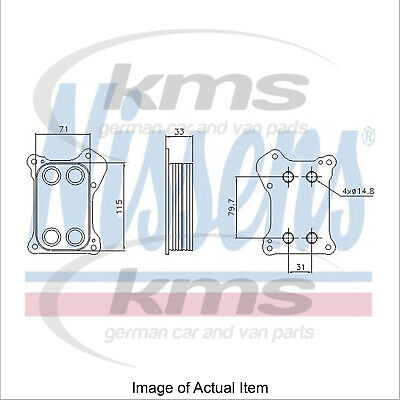 New Engine Oil Cooler NISSENS 90739 Top Quality
