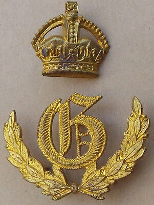 """GUNNERY Competition FIRST PRIZE """"G"""" Wreath Sleeve-Worn Metal Badge Artillery"""