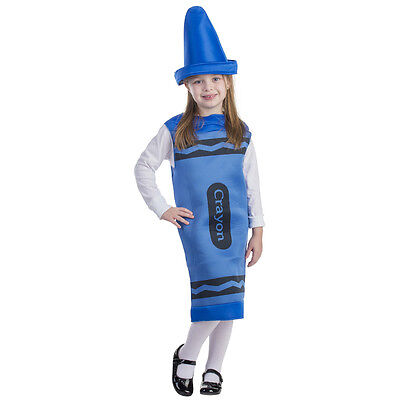 Dress up America Kids Blue Crayon Outfit Costume