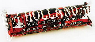CHARCOAL TABLETS - 1 x ROLL OF 10 CHARCOAL 40mm DISC Wicca Pagan Witch Goth