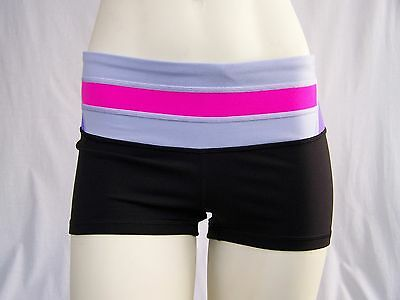 Lululemon Women's Boogie Shorts Black, Pink & Purple Size 6 EEUC