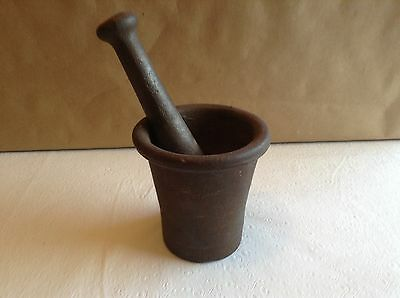 Motar and Pestle vintage Cast Iron
