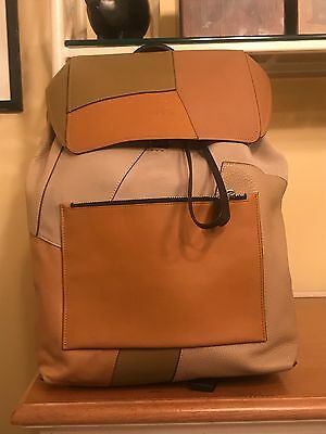 COACH Men's Rucksack Backpack In patchwork leather. Bleecker Style  NO. 72205