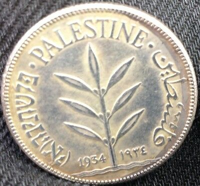 PALESTINE !!    1934   One Hundred  Mills    COIN !!