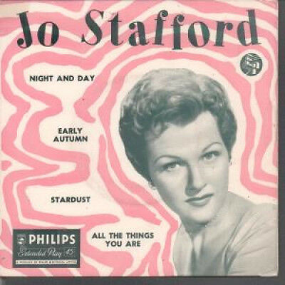 "JO STAFFORD No. 2 7"" VINYL UK Philips 4 Track EP Featuring Night And Day,Early"