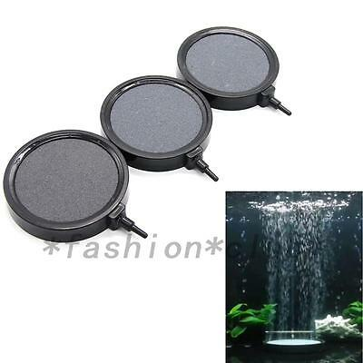 Aquarium Fish Tank Pond Air Stone Disk Diffuser Bubble Plate Black Trim New