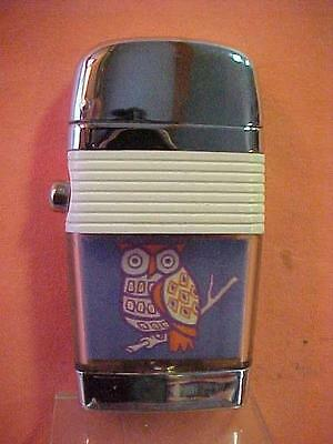 Hard to Find Scripto Vu Lighter - a Colorful Owl - Excellent