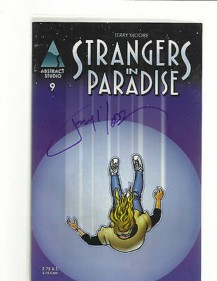 STRANGERS IN PARADISE 9 SIGNED BY TERRY MOORE FRANCINE KATCHOO Tambi Darcy DAVID