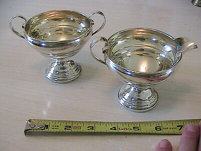 Vintage Sterling Silver Sugar Bowl & Creamer ELGIN SILVER CO. 201.3 Grams