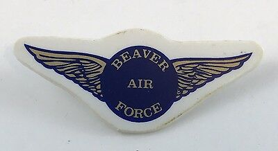 Beaver air force pin vintage plastic Beavers Boy Scouts