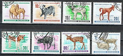 Mongolia 467-474 Used Young Animals 1968