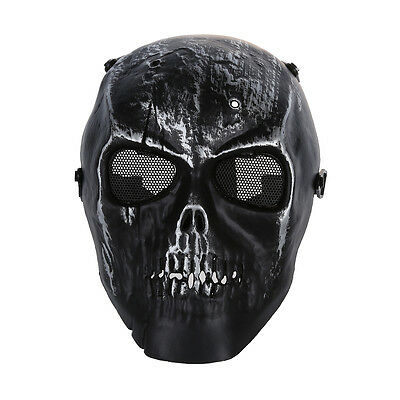 10X(Skull Skeleton Airsoft Paintball Full Face Protect Mask HY