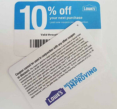 (7) Lowe's 10% Off Purchase^ Competitors Only ^, Expire 01/15/2018 ~ Home Depot