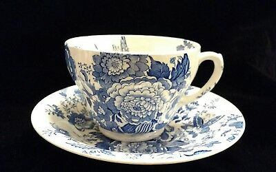 Maling Pottery Newcastle-on-Tyne MLG8 Pattern Oversized Large Cup & Saucer