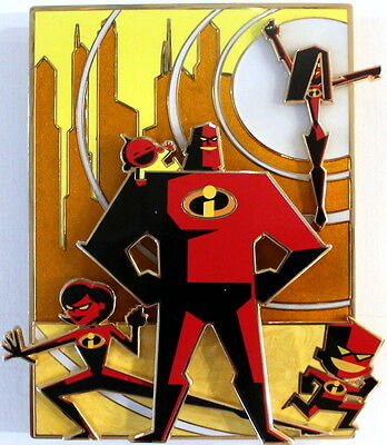 The Incredibles - Pin And Lithograph -  Acme  Artist Series Le 100 - Disney Pin