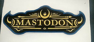 MASTODON Embroidered Back Patch USA Seller Fast Delivery