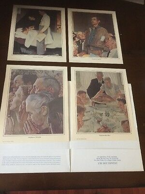 """The Four Freedoms"" by Norman Rockwell - Set of 4 Prints"