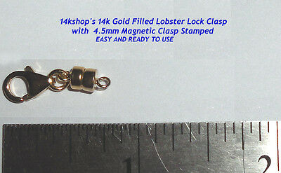 14k Gold Filled Magnetic Magnet Clasp Lobster Lock Claw Clasp Connector