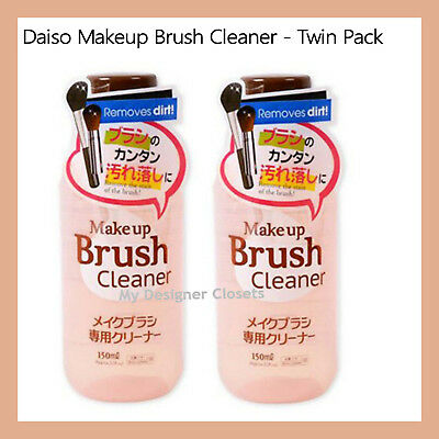 Daiso Makeup Brush Cleaner Twin Pack (2 x 150ml) Removes Dirt