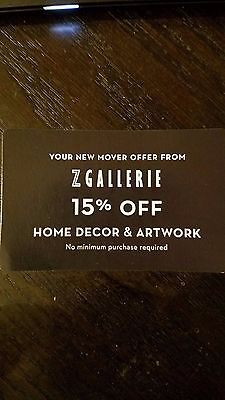 Z GALLERIE 15% Off Home decor & artwork In Store Online Exp 7/3/17