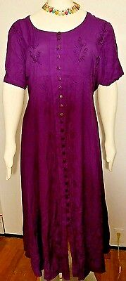 Ladies XL Purple Passion Party Dress Embroidered The Paragon