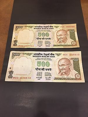 India  2 X 500 Rupees Note