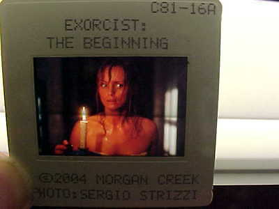 13-2004 THE EXORCIST The Beginning MOVIE Promo COLOR SLIDES Morgan Creek