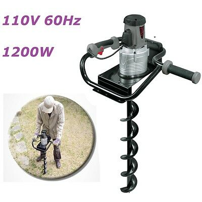 1200W Electric Earth Auger 110V 60Hz Powerful Drill Post Hole Home Garden Plant