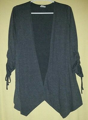 Oh Baby by Motherhood Maternity Medium M Grey Sweater Cardigan