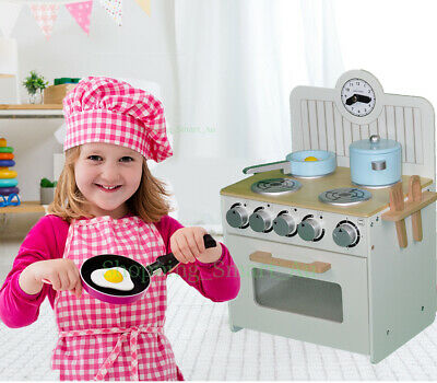 6 Pieces New KIDS WOODEN Pretend Play Toy Kitchen Cooking Set Portable