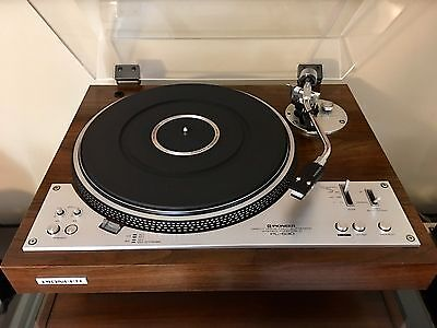 Vintage Pioneer PL-530 Turntable Record Player With Shure V15 Type III Cartridge