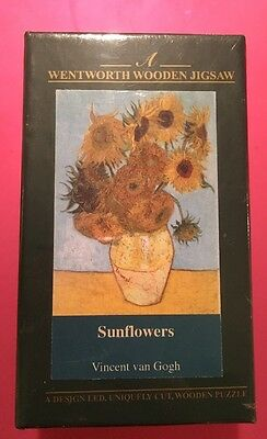 Wentworth Collector's Wooden Jigsaw Micro Puzzle Van Gogh's Sunflowers NEW 40 pc