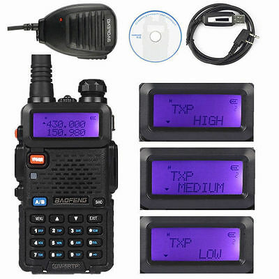 Baofeng UV-5RTP +  Cable +Speaker 136-174/400-520MHz 1/4/8W Two-way Radio