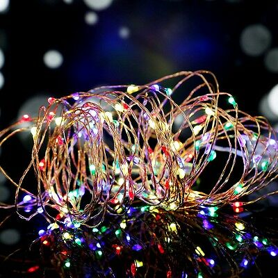 1X 10M 100LED Battery Copper Wire String Fairy Lights RGB for Party Xmas