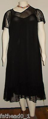 Womens 3X Black Sheer Elegance Dress The Paragon Wear to a Wedding Party Dress