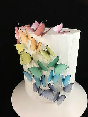 Butterfly Cake Topper Edible Decoration 10pc Princess Magical Instant Birthday