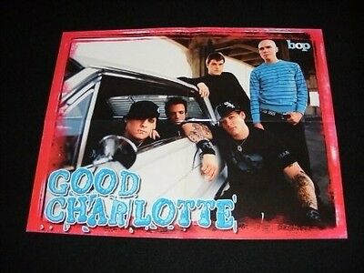 GOOD CHARLOTTE magazine POSTERS lot with JESSE MCCARTNEY  on other side of all