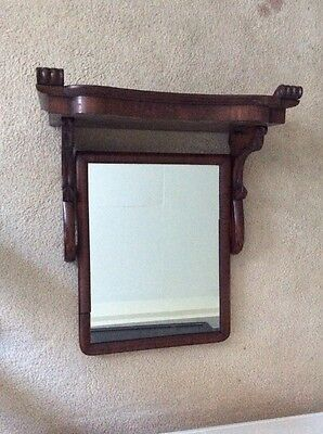 Antique Vanity Mirror Hutch