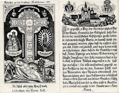 Nr.10174  Andachtsbild holy card Stich Maria Zell 1857