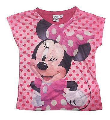 New Summer Kids Girl T-Shirt Minnie Mouse Size 1-5