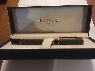 Waterman Laureat Fuellfederhalter / Fountain Pen  (M) Blau im Etui