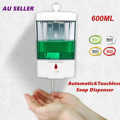 600mL Handfree Automatic IR Sensor Soap Dispenser Shampoo Liquid Hand Sanitizer